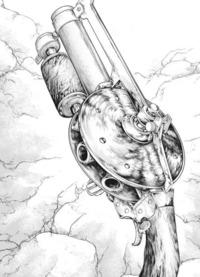 「ドクターストーン」に出てくる銃の製作と文明崩壊後での銃の製造について質問です。  以下の画像は、漫画「ドクターストーン」のリボルバー式(? )の拳銃なのですが、この拳銃は、主人公の知識や技術によっ...