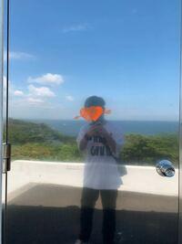 神奈川県の観音崎灯台という場所にある鉄製のドアに向けて自撮りした時の写真です。顔を隠すステッカー以外写真の合成や編集はしていません。なぜ私は透けているのでしょうか?何かの反射によるものですか?ご教授い ただければ幸いです。m(__)m