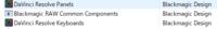 DaVinci Resolve という動画編集ソフトをインストールする際に、 「DaVinci Resolve Panels」「DaVinci Resolve Keyboards」「Blackmagic RAW Common Components」というソフト?も同時にインストールしたのですが、これら3つのソフトはDavinci Resolveで動画編集するときに必要なソフトなのでしょうか?...