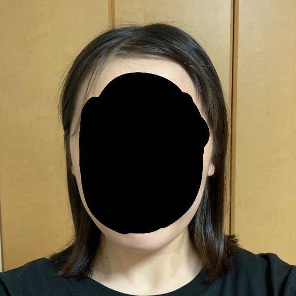 顔の形について質問です。 この顔の形は丸顔でしょうか?面長でしょうか? 顔型 卵形 丸型 面長 ベース型