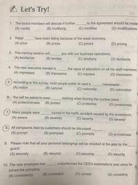 英語 TOEIC対策基礎問題 選択問題の解答を教えて下さい どなたかよろしくお願いします