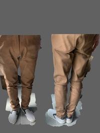 スキニーの脹脛のサイズ感について  オンラインストアでウエストや太腿のサイズは確認して買ったのですが、脹脛が張る感じがあります。 サイズ感を見てご意見をいただけませんでしょうか?