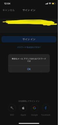 zoomのサインインなんですが、パソコンやwebでのサインインはできたのに、アプリのサインインが画像の様になります。原因わかる方おりましたら、ご返答お待ちしてます。