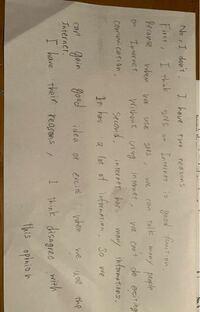 英語、英検二級 ライティングを書きました。  この文章の添削をお願いします