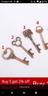 メルカリでハンドメイドのものを売りたいのですが、ミッキーの形をした鍵は著作権に引っかかるのかわかりません。教えてください。画像の2番の鍵です。
