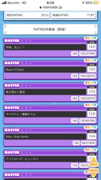 maimaiのレート9500以上の方にレートの内訳の画像を見せてもらいたいです。 貼り付けた写真みたいな感じに新曲枠とベスト枠の最高と最低ラインを見せて欲しいです