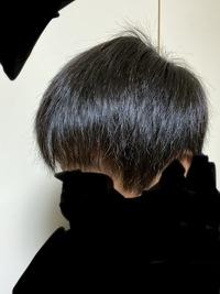 中学生男子です。  この長さ、髪質で、マッシュヘア出来ますか?  つむじが二つあります。 前髪は元々薄いのであまり切らず、ツーブロック、襟足の刈り上げをしてもらいたいと思っています。  写真は風呂上...