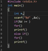 キーボードから整数値 n を入力すると、 n が正の値であれば「カウントダウン」しながら、 n が負の値であれば 「カウントアップ」しながら、 n から0までの整数を順に一行ずつ出力するプログラムを作成しなさい。  このプログラムの書き方がわかりません 教えてください、お礼にコイン500枚渡します