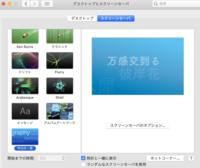 macbookのスクリーンセーバーの開始までの時間が変更できません。 画像のようにグレーアウトするのはどうしてでしょうか? 環境: MacBook Pro 2017 バージョン10.15.6 Catalina