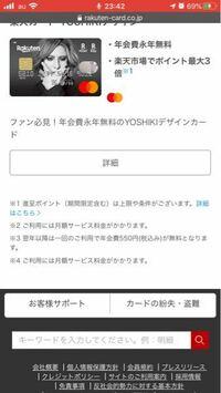 楽天カードのYoshikiデザインを作ろうと考えているのですが2と4に書いてある月額サービス料とはなんのことでしょうか?またそれはいくらでしょうか