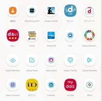 9月にスマホを機種変しました。 アプリのアイコン表示が統一されていないのは何故ですか? 大きいアイコン 白い枠があるアイコン 白い枠があり、さらに青い○の中にアプリがあるアイコン  統一する方法や何故この...