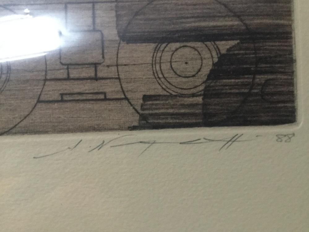 筆記体のフランス語について質問です。 私物の絵画にタイトルと作者のサインがあるのですが、達筆すぎてなんて書いてあるのか読めません。 もし解読できる方がいらっしゃいましたら教えて下さい。