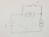 定常状態と過渡現象についての質問です。  Sが開いたままで定常状態となっている時のコイルに流れる電流 と言う問題で、定常状態になってる時、コイルはショートしてると考えて流れる電流はE/(R1+R2) でいいのでしょうか? 定常状態の意味がいまいち掴めず分かりません。  また、過渡現象の問題で、特殊解?任意定数が含まれてるiの式は導けるのですが、一般解を求める時に使うt=0でスイッチ...