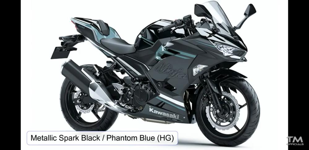 (500枚)kawasakiのバイク「Ninja」についての質問です。 画像にもある「ファントムブルー」というカラー。日本で未発売なのか情報が全然ありません。知っている限り何でも情報を教えてくだ...