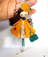 ハンドメイド初心者です! 自分が考えた創作キャラでミニドールのようなものを作りたいと思っています。  偶然見つけた下の画像のような作品を作ってみたいのですが、こういった人形?に名称があるか分かりますか...