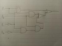 論理回路に関しての質問です。 この回路を可能な限り最適化したいのですが、自分には上手くできません。