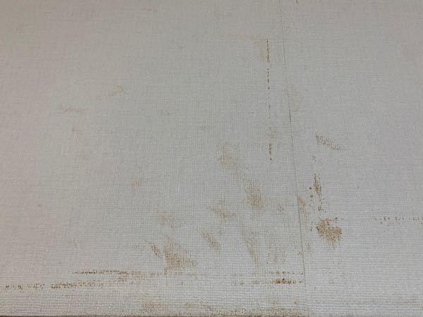 壁紙の茶色いシミの原因は何でしょうか? 20年程前に施工した家の壁に写真のような多数のシミが現れました。特に汚したわけでもないのに浮き出てきたこの汚れは何でしょうか?また汚れの落とし方についても...