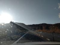 北海道で洞爺湖付近の高速道路を車で走ってるのですが、フロントガラスに白いごみ?の様なものがたくさんつきます。花粉でしょうか?