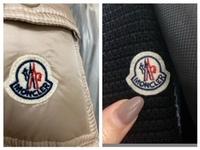 BUYMAでモンクレールのケープを購入しました。 でも、日本の正規店で買った物とロゴが違うので、モンクレールの公式サイトから本物かどうかの判断をして貰いました。 ロゴ、タグ、シリアルコードのタグ、ディテ...