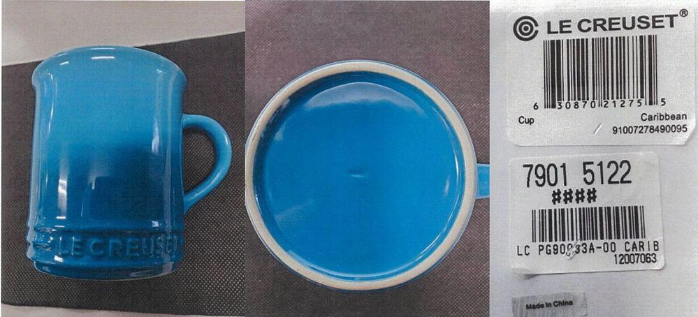 ルクルーゼのマグカップ 360mlを購入しました。 確認したところ、底面(外側)にルクルーゼのロゴ