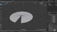 Blenderの初心者講座を見ながらモデリングをしているんですが、編集モードで頂点を選択したら、全て消えました。 一部だけ切り取りたい場合はどうすればいいですか? (画像が理想の図です)