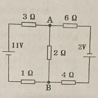 左上の3Ωの電流をI1、右上の6ΩをI2、中央の2ΩをI3とおくのは分かるのですが、なぜ左下の1ΩはI1、右下の4ΩはI2になるのかを教えて欲しいです。