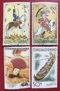 写真はチェコスロバキアの切手です。漫画みたいな画風で魅力的な作品ですが、詳しい情報がないのでどなたか教えていただけませんか。