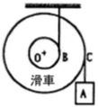 滑車は質量100kg,回転半径0.20m,胴の半径0.10m,外半径0.30mである。図のように質量60kgの重錘を下げたとき、滑車の重心Oの加速度を求めよ。 ダランベールの原理を適用して解くこと。答えは0.265m/(s^2)となるそう...