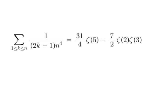 Multiple T-value について。 次の級数をどう示しますか?