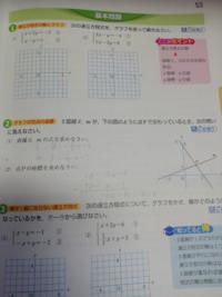 連立方程式の問題です (2)の解は2のはずなんですが、どうやっても-2になります。どこが間違っていますか?