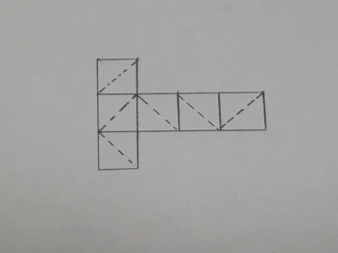 数的処理の質問です。 ア、イの【 】に入る詩の組合せとして正しいのは、次のうちどれか。 下の展開図の点線は、立法体から三角すいを2個切り取る切断線を示したものである。これと同一の立方体からこれと...