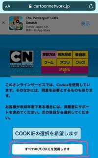 カートゥーンネットワークのキャラを調ていたのですがその時カートゥーンネットワークの公式? のサイトみたいなとこがあったので押したんです。そしたらスマホの動きが悪かったのでスマホタップしてたら、COOKIE...