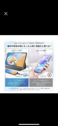 iPhone12 miniに付属してるタイプCのケーブルは3.0と3.1どちらですか? 画像の様にモバイルモニターに接続できますか?