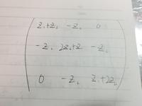 この行列の逆行列の求め方がわかりません。余因子行列を求めようとしたらごちゃごちゃしてわからなくなってしまいました。  Z_1,Z_2は定数です。 何卒よろしくお願い致します。