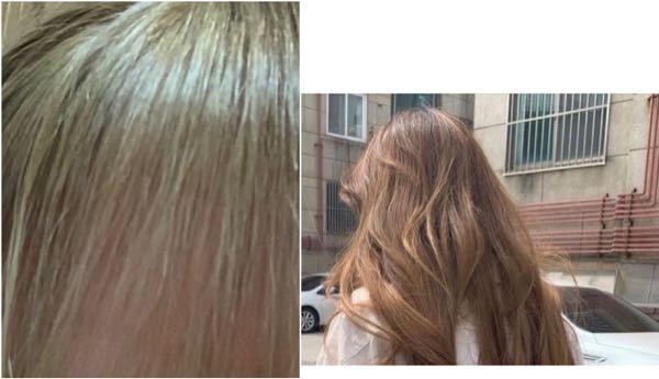 この写真左の緑っぽい髪色に、右の茶色は入らないでしょうか