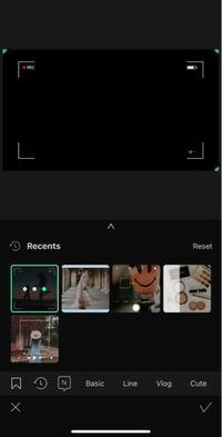 ダビンチリゾルブ(davinci resolve)での動画編集について質問させてください。 画像のように、動画内にフレームを入れるようにするには、どのようにすれば良いのでしょうか? 最近LUTなどを使えるようになったのですが、画像のようにフレームのエフェクトも使いたいです。 ちなみに、画像はVLLOというアプリを使ったものです。  よろしくお願い致します。
