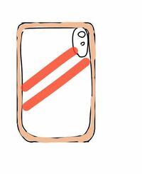 スマホカバー 赤の斜め線が2本入っていて周りが肌色?に近い色で囲まれているiPhoneのスマホカバーの名前が分からないのですがわかる方教えていただけると嬉しいです…情報少なくてすみまへん…