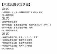 京都大学合格に向けて東進で以下の講座を取ろうと 思っているのですがこれだけだと足りないでしょうか?