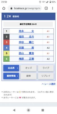 明日の若松12レースはまた西山軍団と田頭先生ですかw 軍団が勝ちますかねw