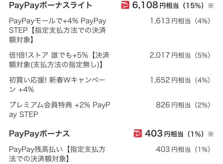ペイペイボーナスライト付与の事ですが Yahooショッピングで4万円位の買い物をして ボーナス...