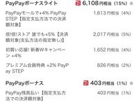 ペイペイボーナスライト付与の事ですが Yahooショッピングで4万円位の買い物をして ボーナスライトが6000円位付くとありました。 その画面の数字よりボーナス確定した時は 少なくなるとありましたので 減少は...