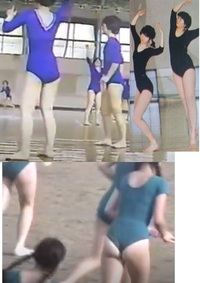 体育授業で女子はレオタードを着る時代があったのですか? 強制的にレオタードを全員が着て体育授業だったのですか? 緑レオタードのようにサイズアウトしてもズボンをはいてはダメだったのですか?