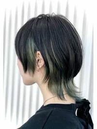 髪型について。 ウルフカットに憧れていてやってみたいのですが、少しくせ毛(サイドと後ろの毛先がはねるくらい)で多毛、1本1本が太めの髪です。写真のようなウルフにしたらおかしくなってしまうでしょうか?  ま...