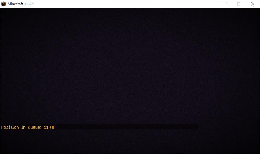 2b2tに接続しても、画面が真っ暗で操作することができません。