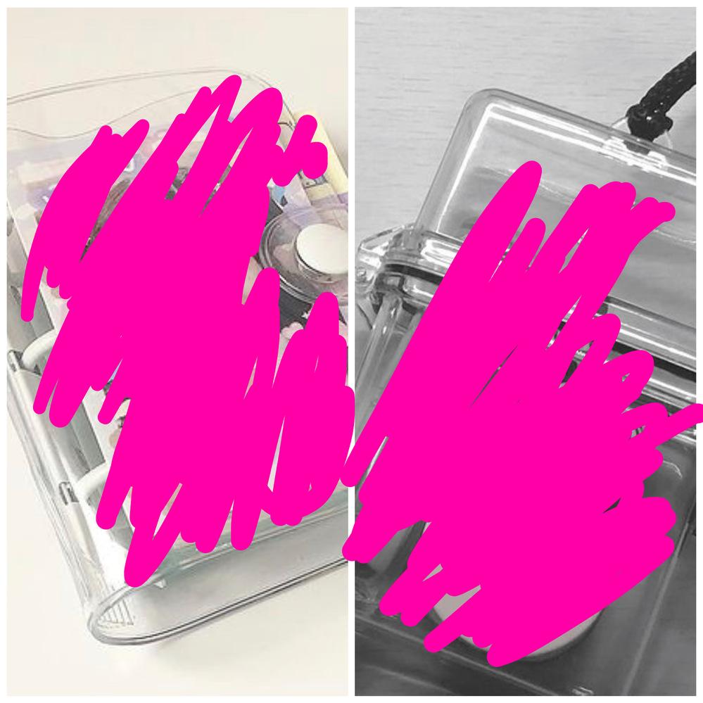 インスタの雰囲気投稿でよく見る透明のケースと写真をはさめる透明のケース(?)のようなものはどこで買えますか?