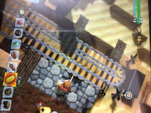 ドラゴンクエストビルダーズ2について 坑道の線路を繋げるクエストの2回目のやつです 2本繋げようとすると、一回目の時と2回目のときのやつとごっちゃになってこの画像のようになってしまってクリアでき...