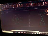 AutoCADに関する質問です。 右の図を、左の図のように、作図したいんですが、ミラーコマンドを使って、行いたいんです。まずはミラーコマンドを選んで、ミラーしたいオブジェクトを選択するところまでは分かりま...