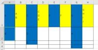 VBA 複数のデータを1つのセルに改行してまとめるコード 添付画像の青塗りつぶしのようなデータが与えられた際、 黄塗りつぶしのような結果を得たい場合、 どのようなコードで対応できるかご教示いただけないでし...