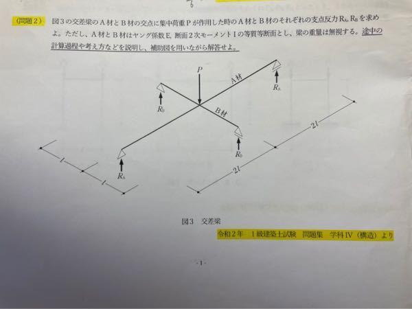 建築構造力学の問題です。教えてください