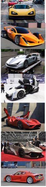 かなり無茶な質問になります... これら7台の車の名前を教えて下さい! マイナーな車だと思いますので、分かる範囲での回答でも全然大丈夫です! 「これだけは分かる!」という方は上から順に①、②.....